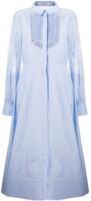 Self-Portrait Flared Embroidered Panel Dress