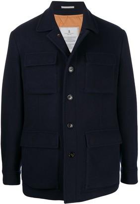 Brunello Cucinelli Single-Breasted Flap Pocket Jacket