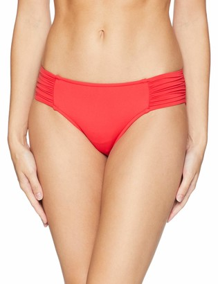 Seafolly Women's Ruched Side Retro Bikini Bottom Swimsuit