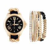 Rocawear Womens Black 6-pc. Watch Boxed Set-Rlst1954g329-003