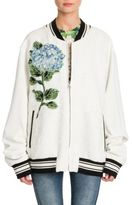 Dolce & Gabbana Brocade Embroidered Bomber Jacket
