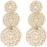 Rosantica Pizzo bead embellished spiral earrings