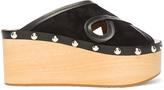 Isabel Marant Suede Zipla Wedge Sandals
