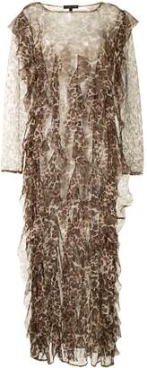 ONALAJA Mag draped maxi dress