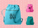 Etsy Monogrammed Cinch Saks, Canvas Cinch Sack, Tween Gift, Teen Christmas Gift, Birthday Gift, Comfort C