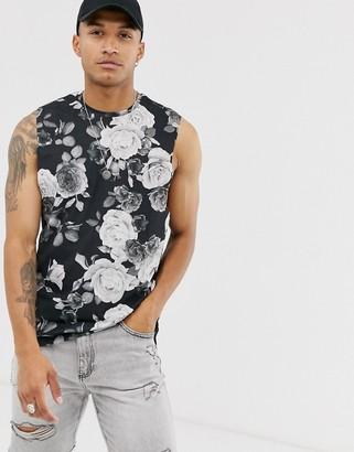 Bolongaro Trevor floral vest in black