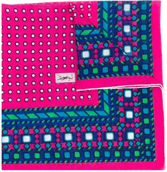 Yves Saint Laurent Pre-Owned 1980s Geometric Print Scarf