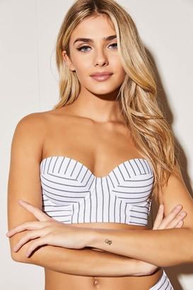 Ardene Striped Bustier Bikini Top