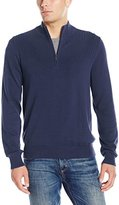 Van Heusen Men's Solid 1/4 Zip Sweater