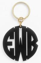 Moon and Lola Women's Personalized Monogram Key Chain - Black