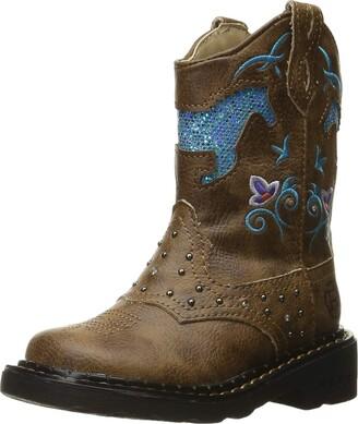 Roper Girls Horse Flowers Western Boot
