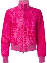 Alexander McQueen leopard bomber jacket