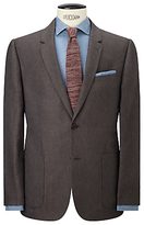 John Lewis & Co. Hornton Sharkskin Suit Jacket, Brown