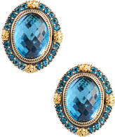 Konstantino Thalassa Oval Blue Topaz Clip Earrings