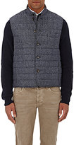 Luciano Barbera MEN'S CHANNEL-QUILTED VEST-DARK GREY SIZE XL