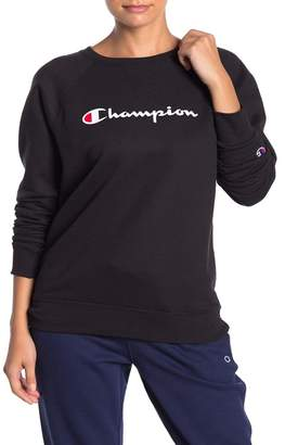 Champion Powerblend Boyfriend Logo Pullover