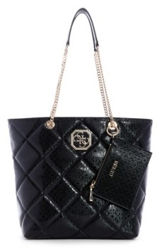 GUESS Dilla Quilted Logo Society Carryall