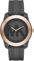 Michael Kors Women's Preston Charcoal Silicone Strap Watch 43mm MK2560 - A Macy's Exclusive