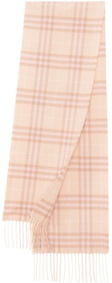 BURBERRY KIDS The Mini check patterned scarf