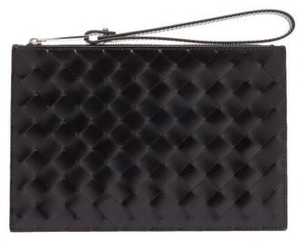 Bottega Veneta Intrecciato Small Leather Pouch - Black
