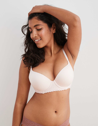 aerie Real Sunnie Demi Push Up Lace Bra