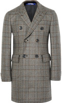 Junya Watanabe Slim-Fit Double-Breasted Prince of Wales Checked Wool Coat