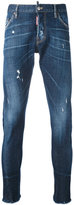 DSQUARED2 tapered jeans - men - Cotton/Calf Leather/Polyester/Spandex/Elastane - 44