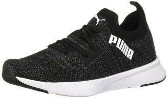 Puma Women's Flyer Runner Sneaker Black-Asphalt White Numeric_9_Point_5