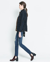 Zara Quilted Jacket With Piping