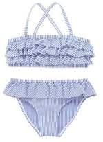 F&F Striped Ruffled Bikini Set
