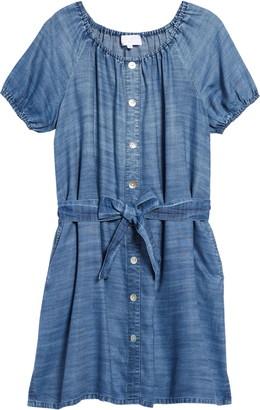 Bella Dahl Puff Sleeve Tencel® Lyocell Dress