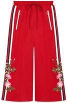 Gucci Embroidered wide-leg jogging pant