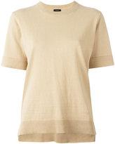 Joseph round neck knitted T-shirt