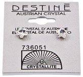 Crystallite Destine Flower 5mm Earrings