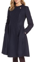 Ted Baker Women's Wool Blend Asymmetrical Skirted Coat