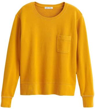 Alex Mill Fleece Pocket Sweatshirt in Honey Mustard