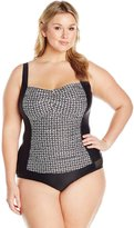 Coastal Blue Women's Plus Size Classic Center Front Twist Tankini