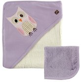 Hudson Baby Bamboo Hooded Bath Towel and Washcloth, by