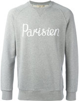 MAISON KITSUNÉ 'Parisien' slogan sweatshirt - men - Cotton - S