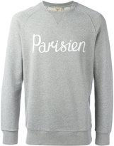 MAISON KITSUNÉ 'Parisien' slogan sweatshirt