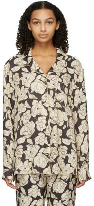 Nanushka Brown and Beige Oona Shirt