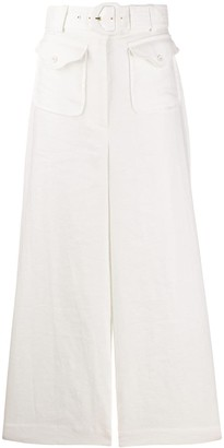Zimmermann Super Eight wide-leg linen trousers