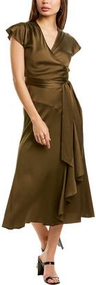 Diane von Furstenberg Gwendolyn Silk-Blend Wrap Dress
