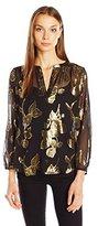 Joie Women's Vashti Floral Metallic Top