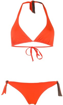 Fisico Two-Tone Triangle Top Bikini Set