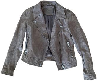 Blank NYC Beige Suede Jacket for Women