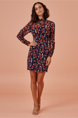 Finders Keepers MAYA MINI DRESS navy floral