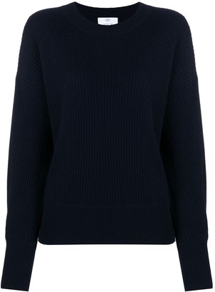 Allude Crew Neck Ribbed Sweater