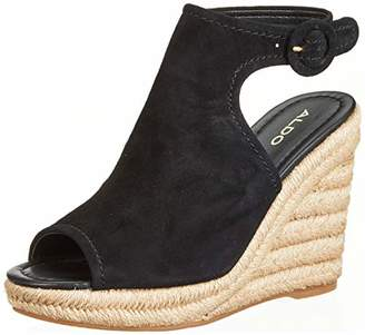 Aldo Women's NURKA Ankle Strap Sandals, (Black Suede 91)