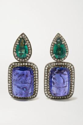 Amrapali Sterling Silver-plated 18-karat Gold Multi-stone Earrings - one size